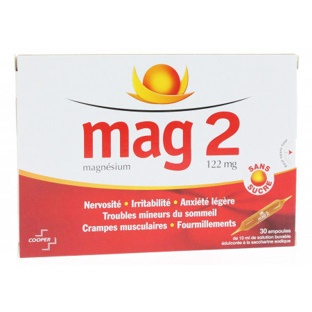 Mag 2 Solution Buvable 30 ampoules