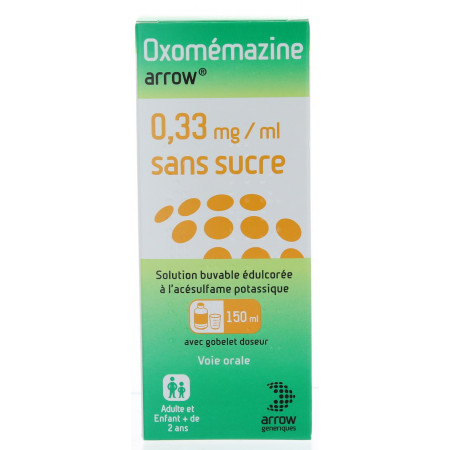 Oxomémazine Arrow sirop sans sucre 150 ml
