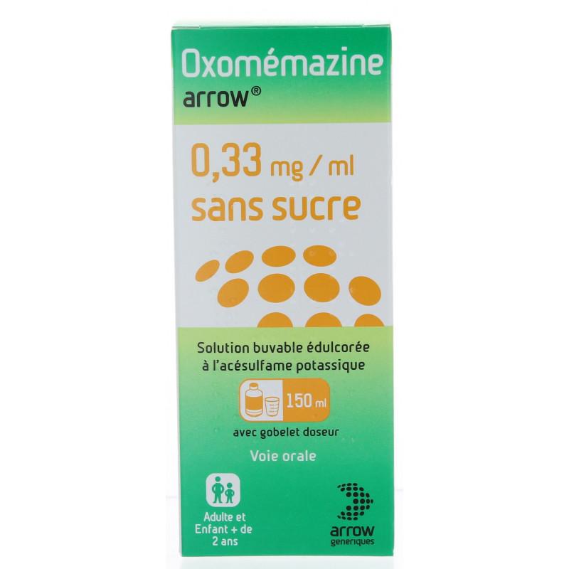 Oxomémazine Arrow sirop sans sucre 150 ml