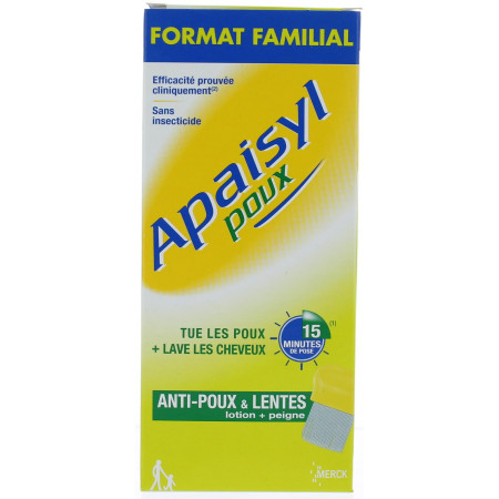 POUX APAISYL SHAMPOOING +PEIGNE 200ML