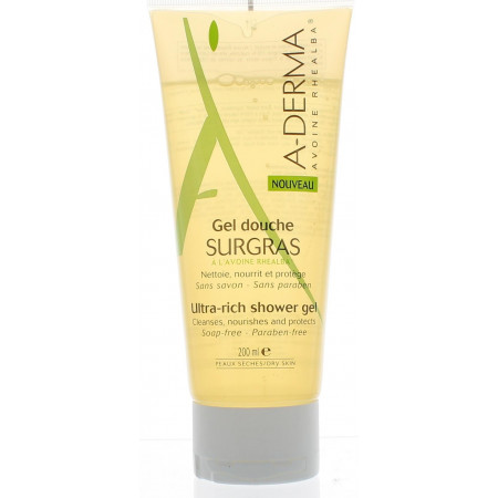ADERMA GEL DOUCHE SURGRAS 200ML
