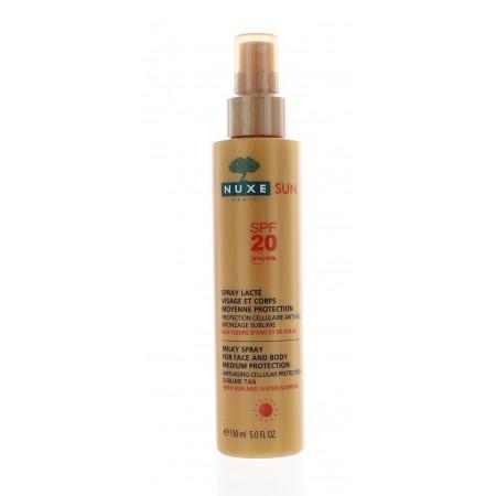 Spray Lactée Moyenne Protection 20 Nuxe Sun 150 ml