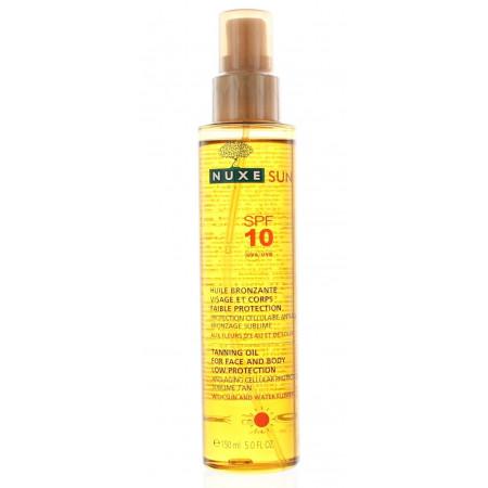 Nuxe Sun Huile Bronzante Faible Protection 150ml