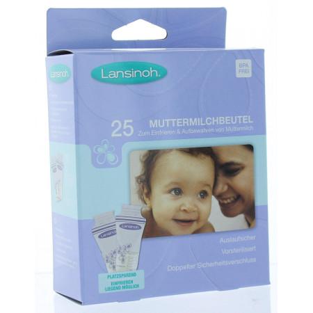 Sachets de Conservation de Lait Maternel Lansinoh X25