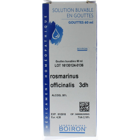 ROSMARINUS OFFICINALIS 3DH GOUTTES BUVABLES 60ML