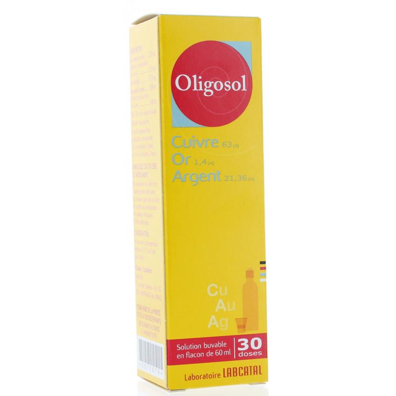 Oligosol Cuivre Or Argent Solution Buvable 60 ml