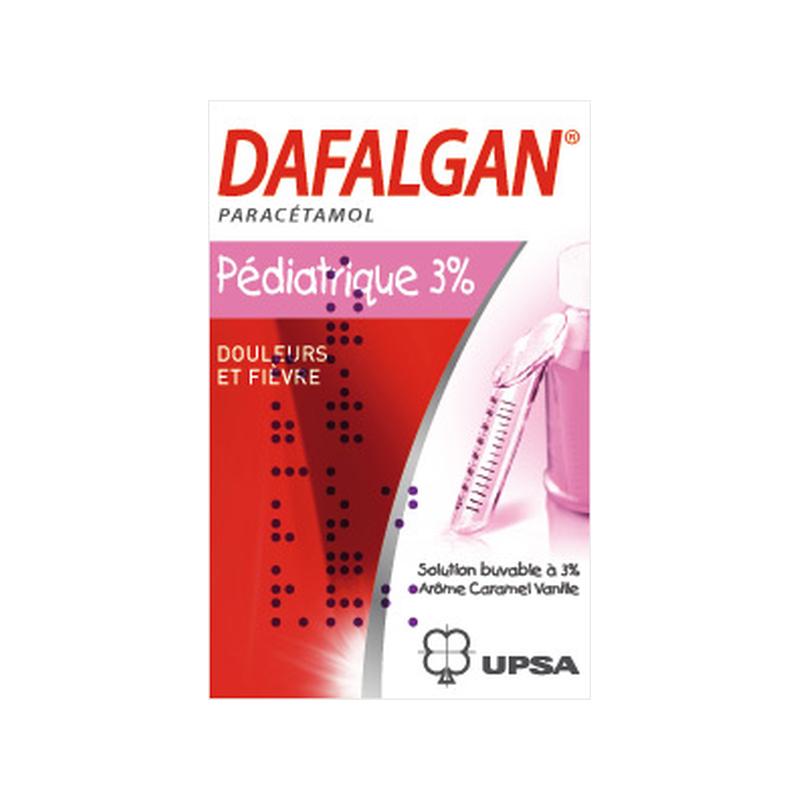 UPSA DAFALGAN PARACETAMOL ENFANTS SOLUTION BUVABLE 3% - ARÔME CARAMEL-VANILLE - 90 ml