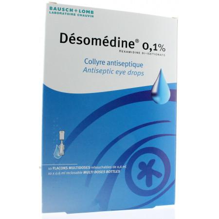 Désomédine 0,1% Collyre Antiseptique 10 unidoses