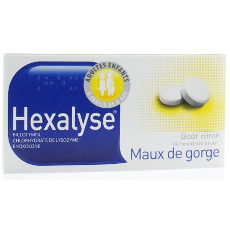 Hexalyse maux de gorge comprimés