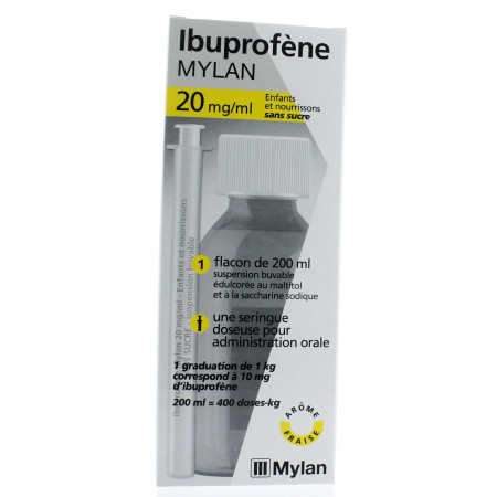Ibuprofène Mylan 20 mg/ml Suspension buvable