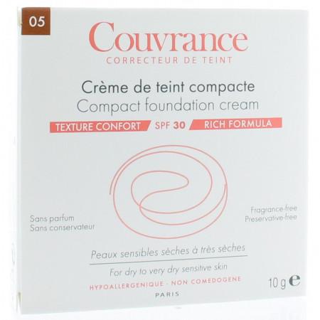 Avène Crème de Teint Compacte Couvrance Confort Soleil 5.0