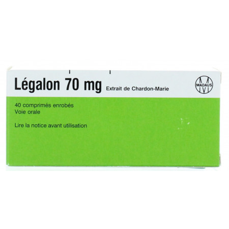 Legalon 70 mg 40 comprimés