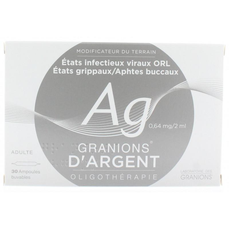 Granions d'Argent 0,64 mg/2 ml 30 Ampoules