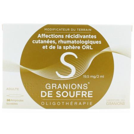 Granions de Soufre 19,5 mg/2 ml 30 Ampoules