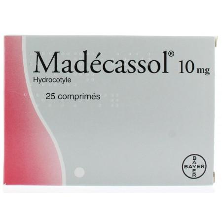Madecassol 10 mg 25 comprimés