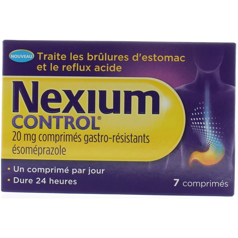 Nexium Control 20 mg 7 comprimés gastro-résistants