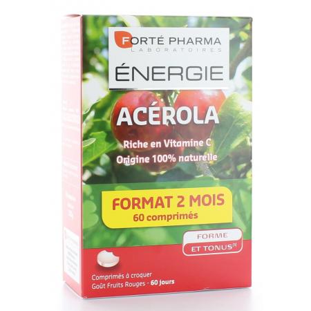 Acérola Énergie Forté Pharma 60 comprimés à croquer