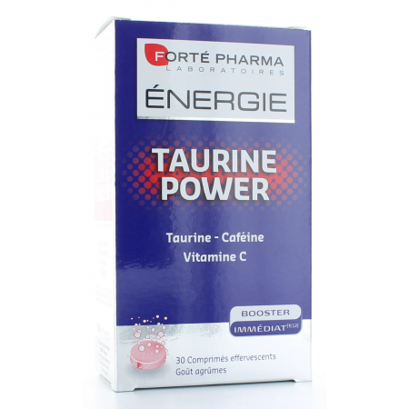 FORTE PHARMA ENERGIE TAURINE POWER BOOSTER IMMEDIAT - 30 COMPRIMES EFFEVESCENTS - GOUT AGRUMES