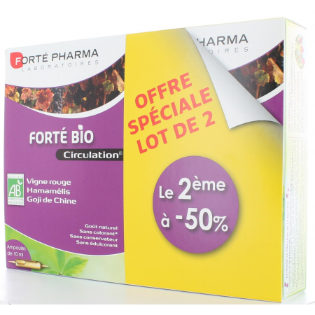 FORTE PHARMA FORTE BIO CIRCULATION 2x 20 AMPOULES DE 10 ml