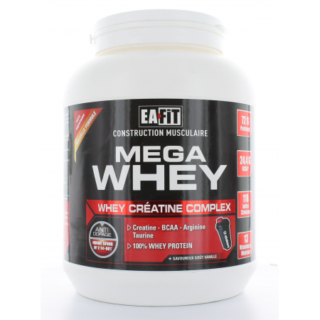 EaFit Mega Whey Saveur Vanille 750g