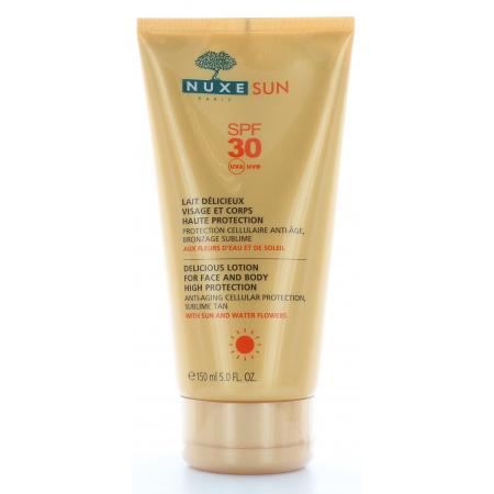 Nuxe Sun Lait Délicieux Haute Protection SPF30 150ml