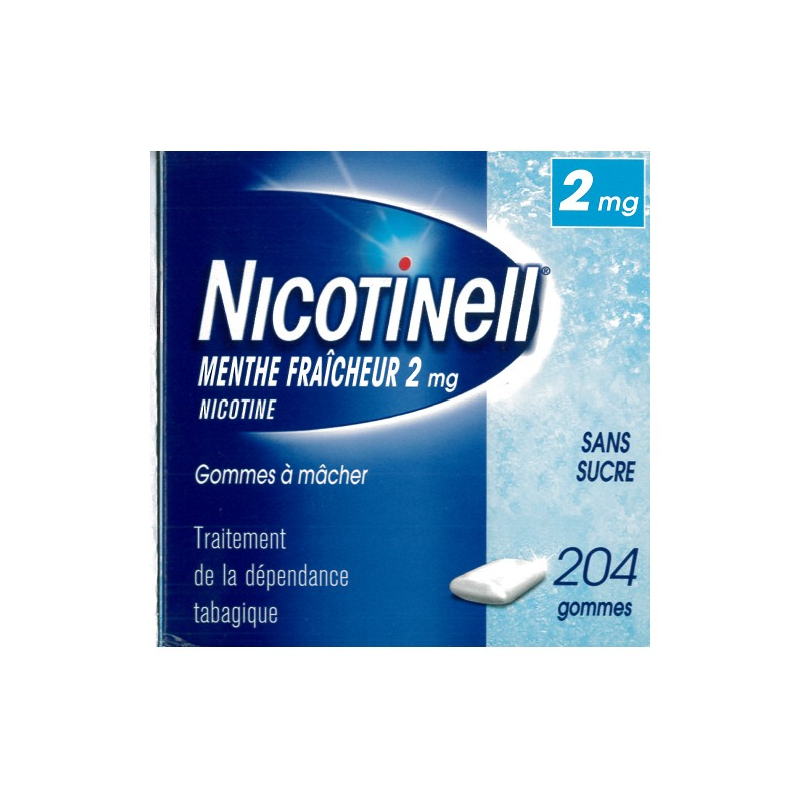 Nicotinell 2 mg Menthe Fraîche 204 gommes