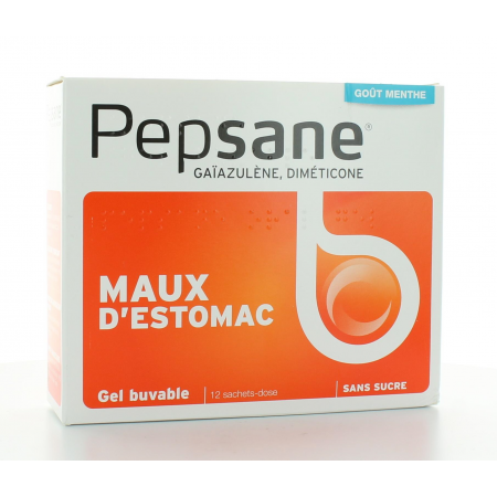 PEPSANE GEL BUVABLE MAUX D'ESTOMAC 12 SACHETS-DOSE