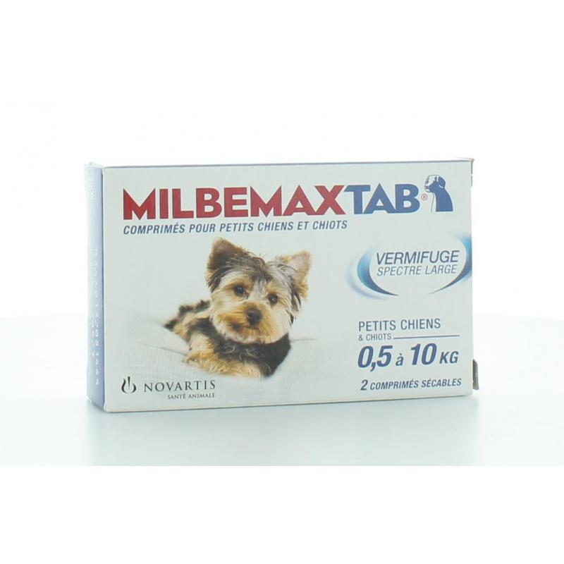 MILBEMAX TAB VERMIFUGE SPECTRE LARGE CHIEN 0.5-10 kg - 2 COMPRIMES