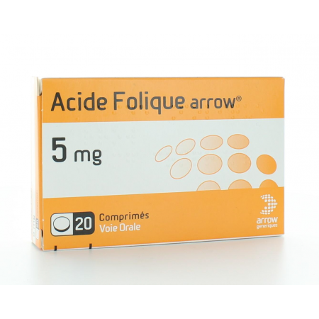 ACIDE FOLIQUE ARROW 5mg 20 COMPRIMES