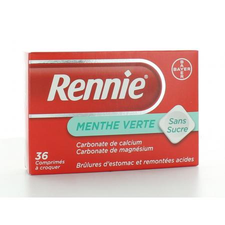 Rennie Menthe Verte sans sucre 36 comprimés
