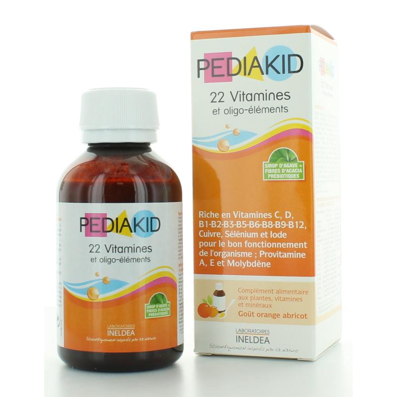 Pediakid 22 Vitamines et Oligo-éléments 125 ml