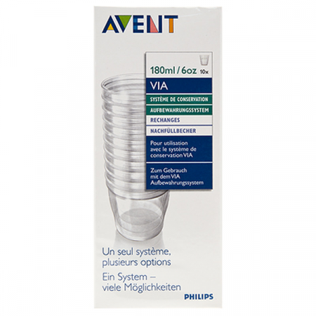 POT PRE STERILISE VIA AVENT 240ML 10