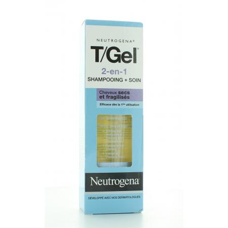 NEUTROGENA T/GEL 2-EN-1 SHAMPOOING + SOIN CHEVEUX SECS ET FRAGILISES 125 ml