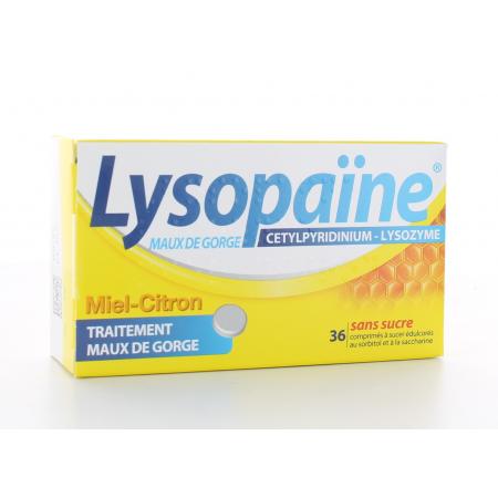 Lysopaïne Miel-Citron 36 comprimés