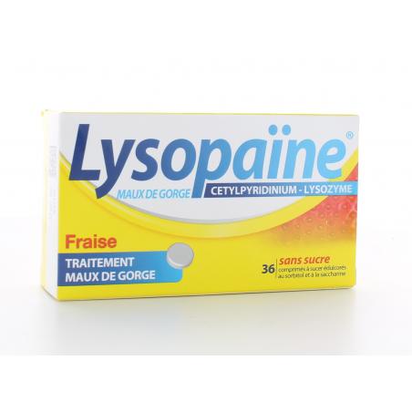 Lysopaïne Fraise 36 comprimés