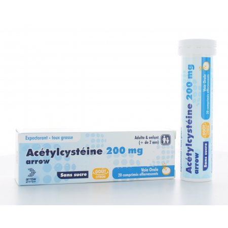 Acétylcystéine Arrow 200 mg 20 comprimés