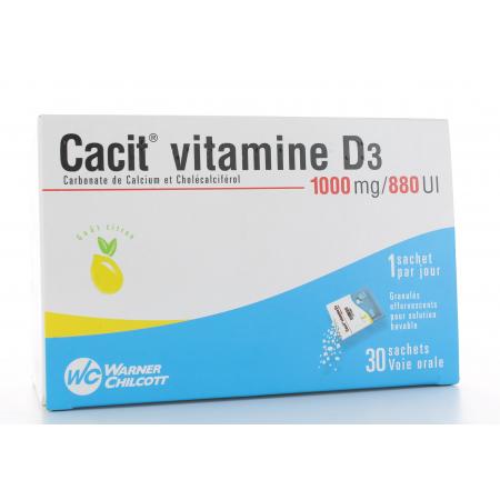 Cacit Vitamine D3 1000 mg/880 UI 30 sachets