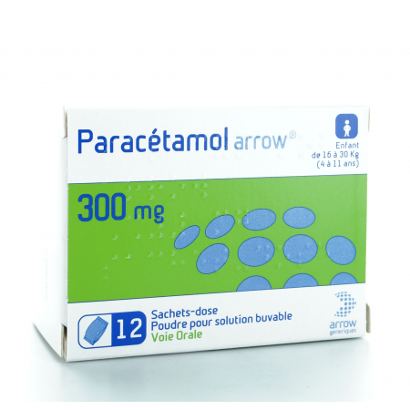 Paracétamol Arrow 300 mg Solution Buvable 12 sachets