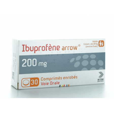Ibuprofène Arrow 200 mg 30 comprimés