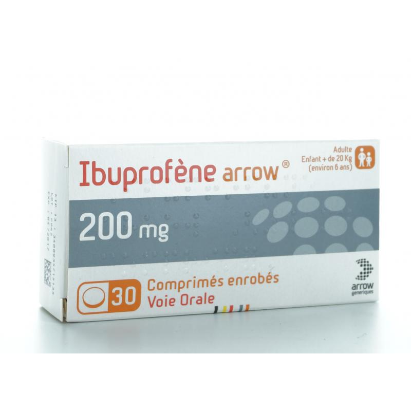 Ibuprofène Arrow 200 mg 30 comprimés