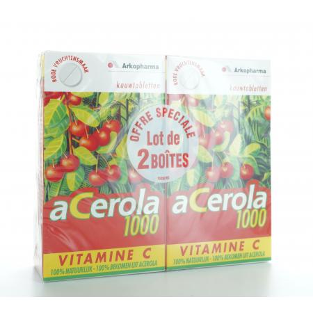 Acerola 1000 Lot de 2 X 30 comprimés