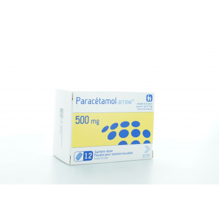Paracétamol Arrow 500 mg Solution Buvable 12 sachets