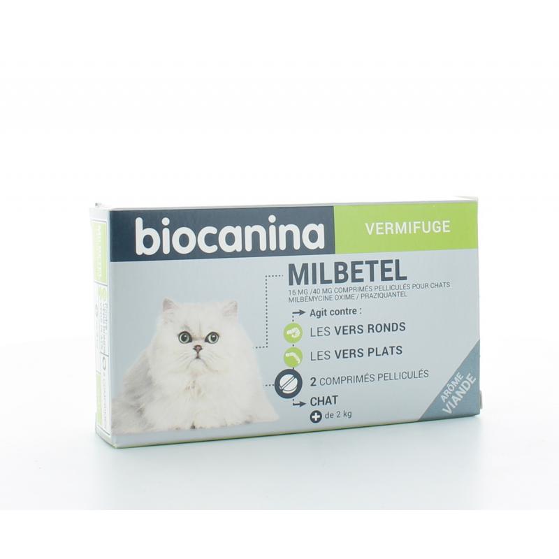 Milbetel Biocanina Vermifuge Chat 2 comprimés