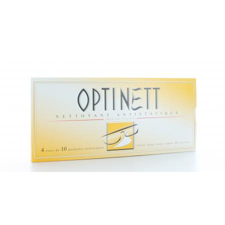 Optinett Nettoyant Antistatique 4X10 pochettes