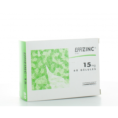 Effizinc 15 mg 60 gélules