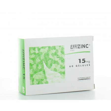 Effizinc 15 mg 60 gélules