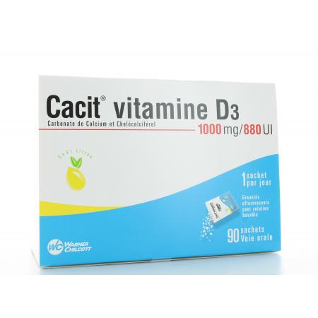Cacit Vitamine D3 1000 mg/880 UI 90 sachets