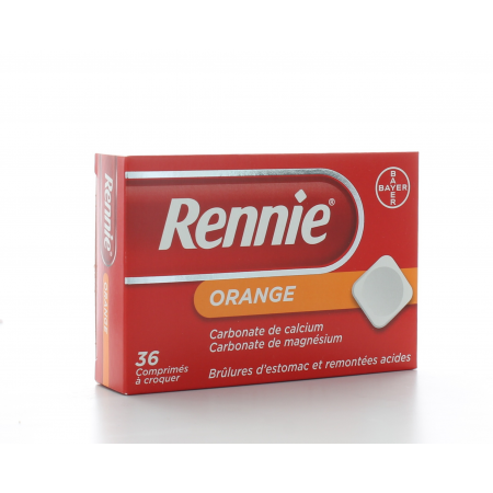 Rennie Orange 36 comprimés à croquer