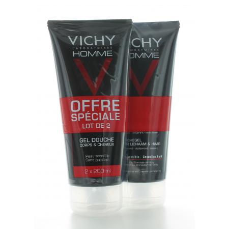 Vichy Homme Gel Douche Corps et Cheveux 2X200ml