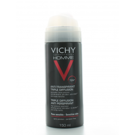 Vichy Homme Déodorant Spray Anti-Transpirant 72H 150ml
